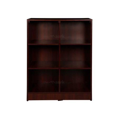 Open Bookshelf Wooden Maroon Color