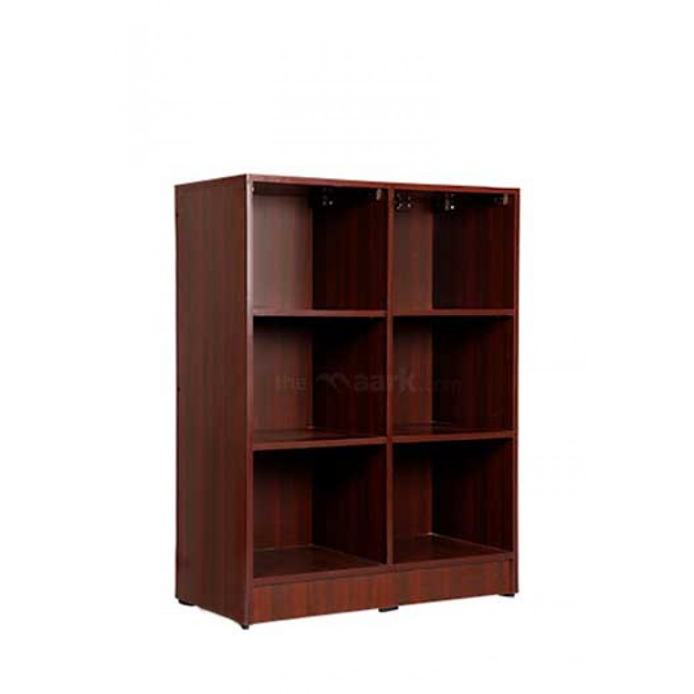 Open Bookshelf Wooden Maroon Color