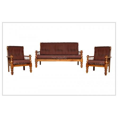 Aleandro Teak Wooden Sofa 3+1+1