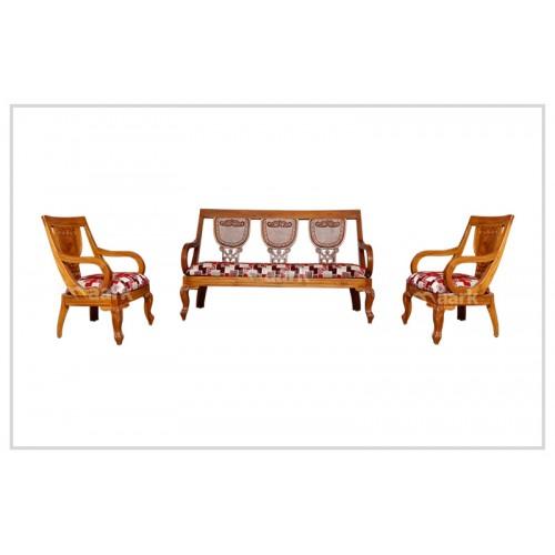 Alvin Teak Wooden Designed Sofa Set 3+1+1