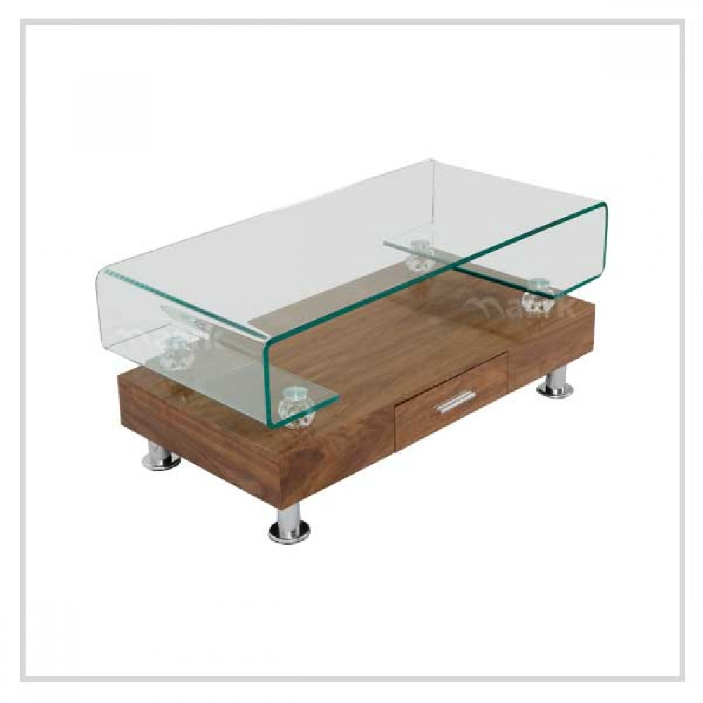 Bend Glass Center Table