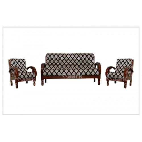 Madisson Teak Wooden Fabric Sofa