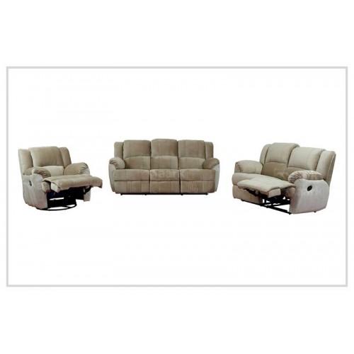 Manual Fabric Recliner Sofa 3+2+1