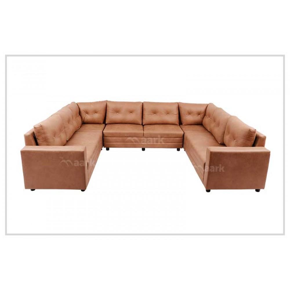 Oxford Leatherette Sofa