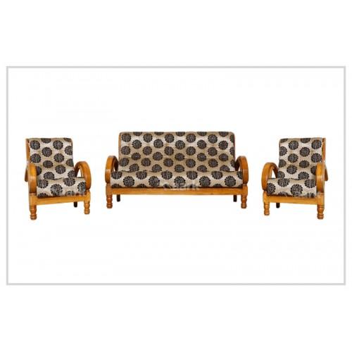 Sweden Fabric Teak Wooden Sofa