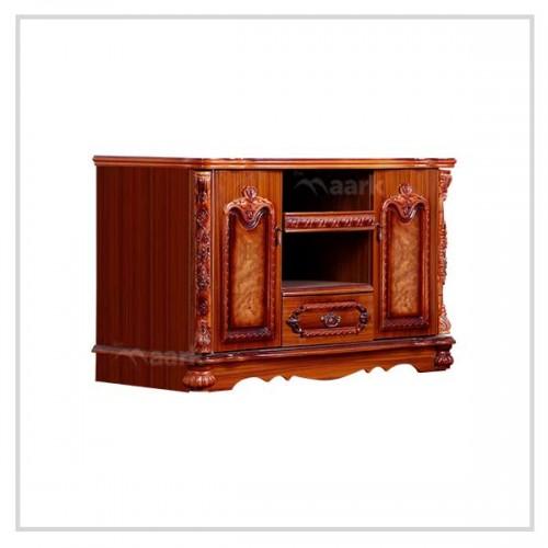 Brown Wooden TV Cabinet