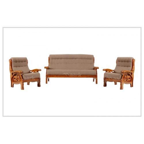 Unique Teak Wooden Fabric Sofa