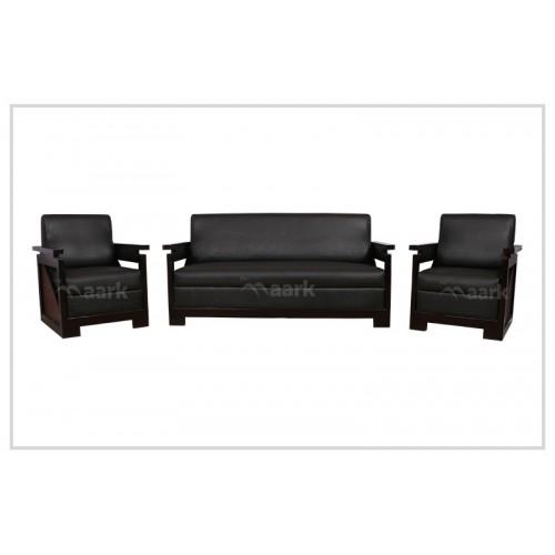 Wooden Chattai 3+1+1 Sofa