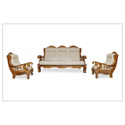 Xandra Ash Colour Teak Wooden Sofa