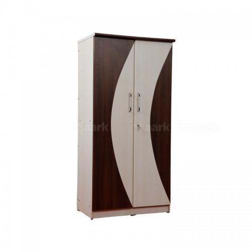 White Wooden Two Door Wardrobe