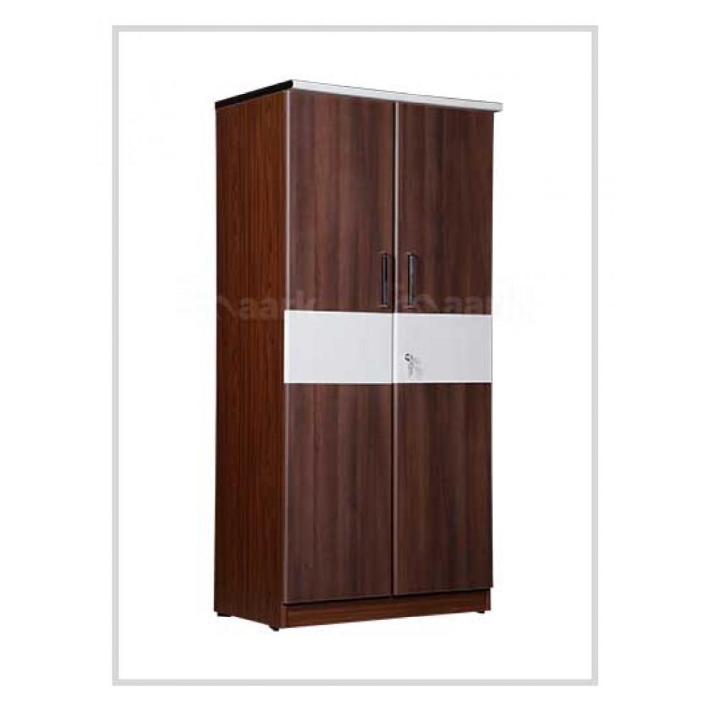 Brown Wooden Two Door Wardrobe