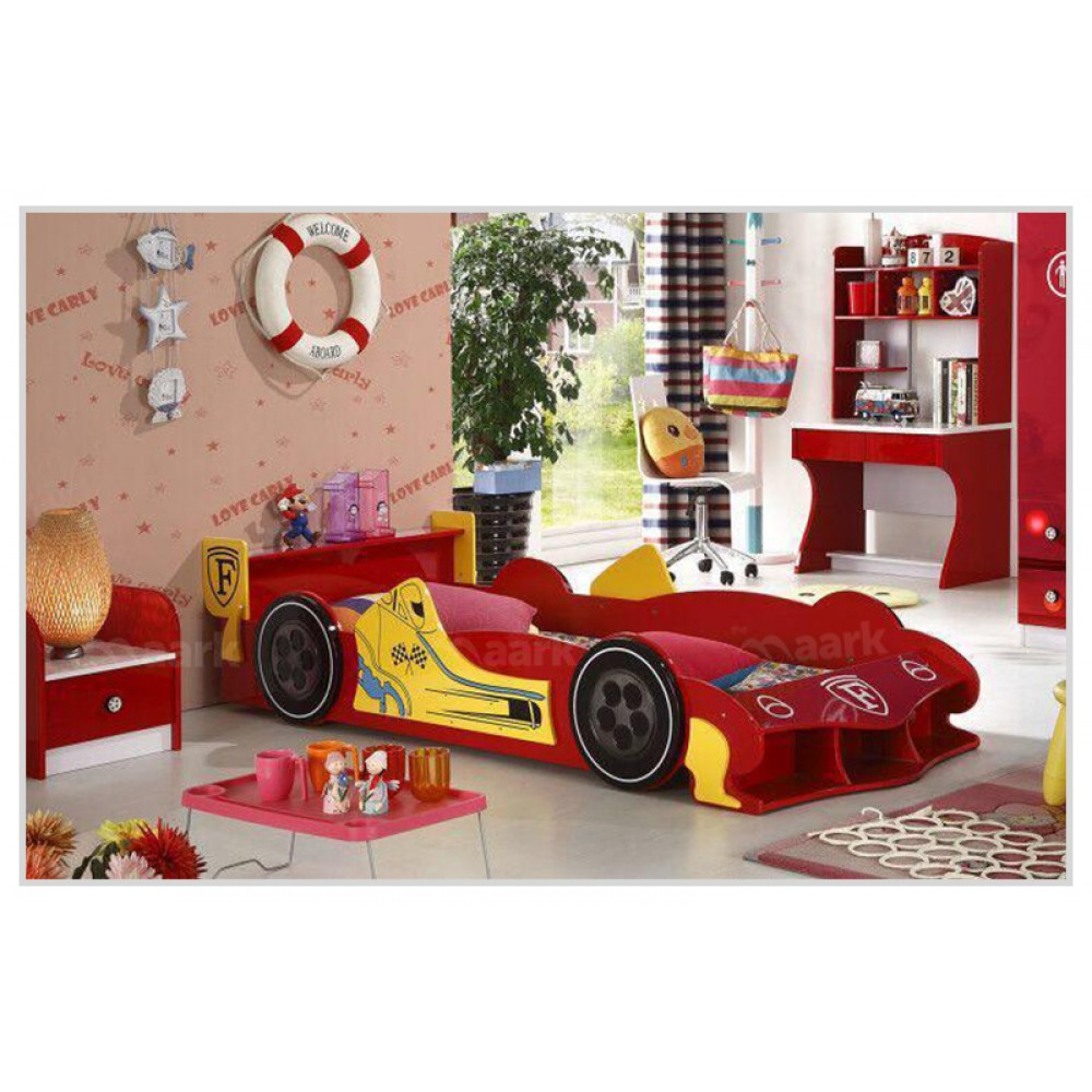 Red Car Shaped Kids Bed