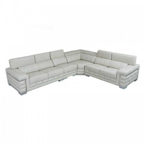 Delos L Shaped Leather Corner Sofa