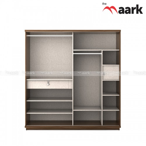 Trendly Sliding Wooden Wardrobe