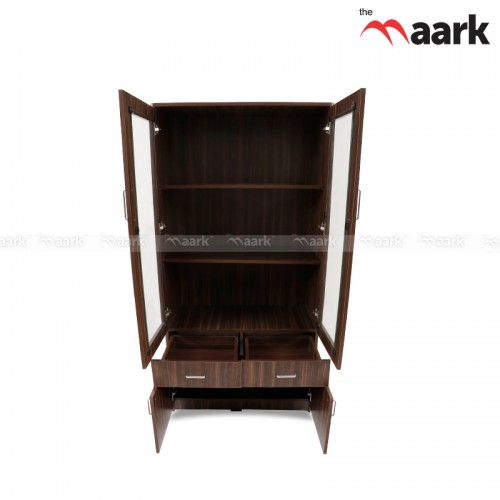 Wooden with Glass Bookshelf