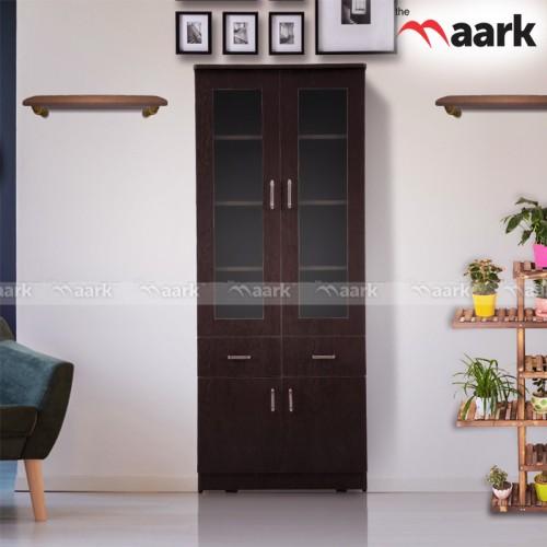 Wooden Bookshelf -2 door