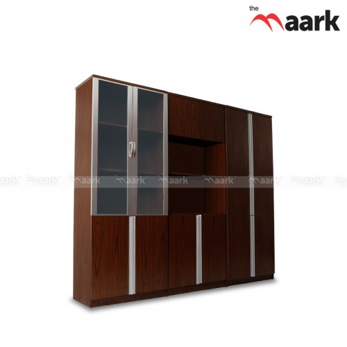 Wooden with Glass Book shelf