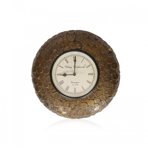 Old Coin Designed Wall Clock
