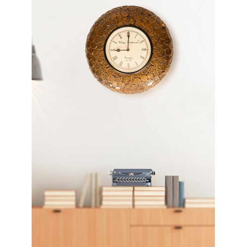 Old Coin Designed Clock