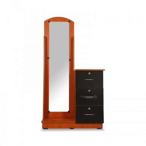 Long Wooden Glass Dressing Table