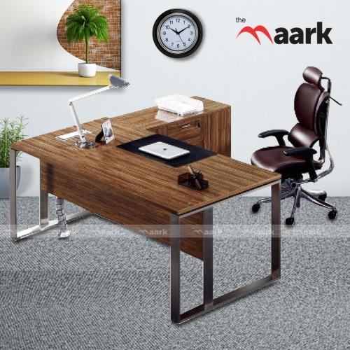 Steel Wooden Designed MD Table