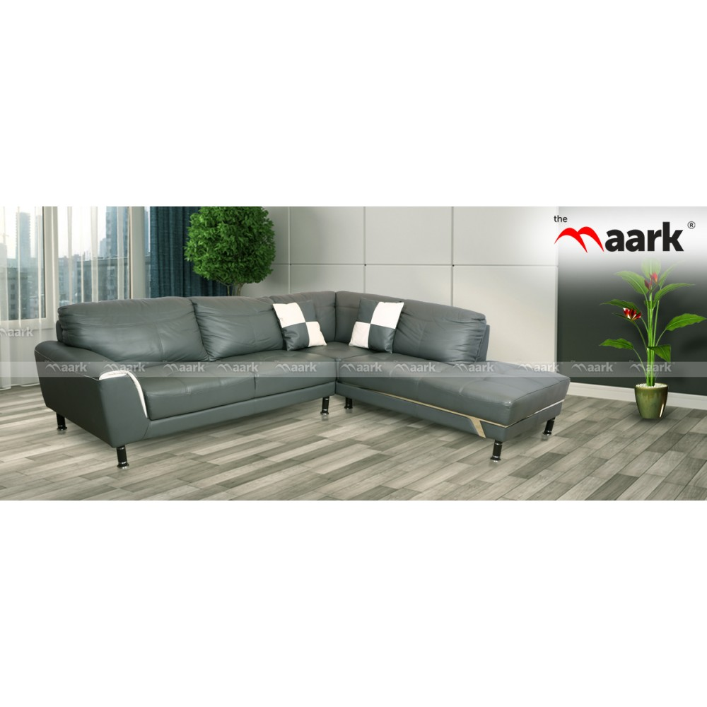 The Maark Leather Sofa With Diwan