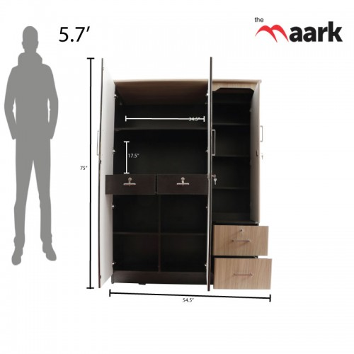 Special Three Door Wardrobe With Dresser