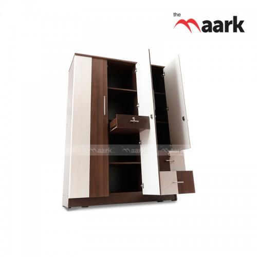 Wooden Classy Designed Three Door Wardrobe