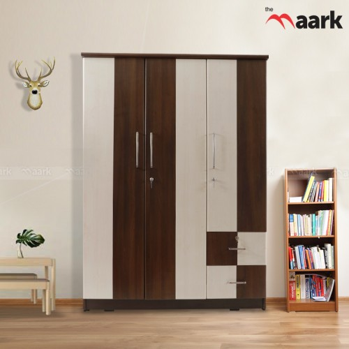 Wooden Classy Designed Three Door Wardrobe