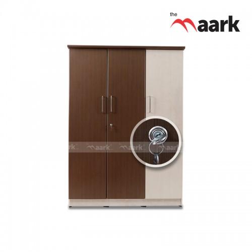 Double Colour Wooden Three Door Wardrobe