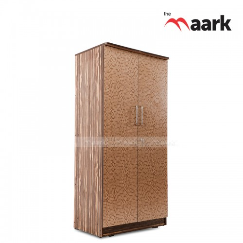 Dotted Designed Two Door Wooden Wardrobe