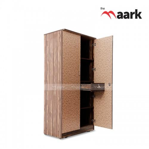 Dotted Designed Two Door Wooden Wardrobe