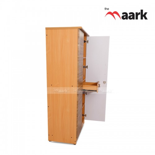 Plain Wooden Two Door Wardrobe