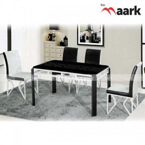 Rich White And Black Dining
