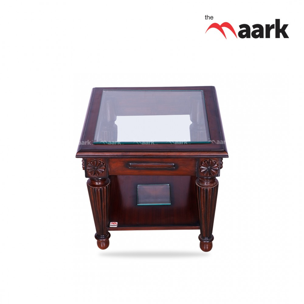 The Maark Glass With Wooden Centre Table