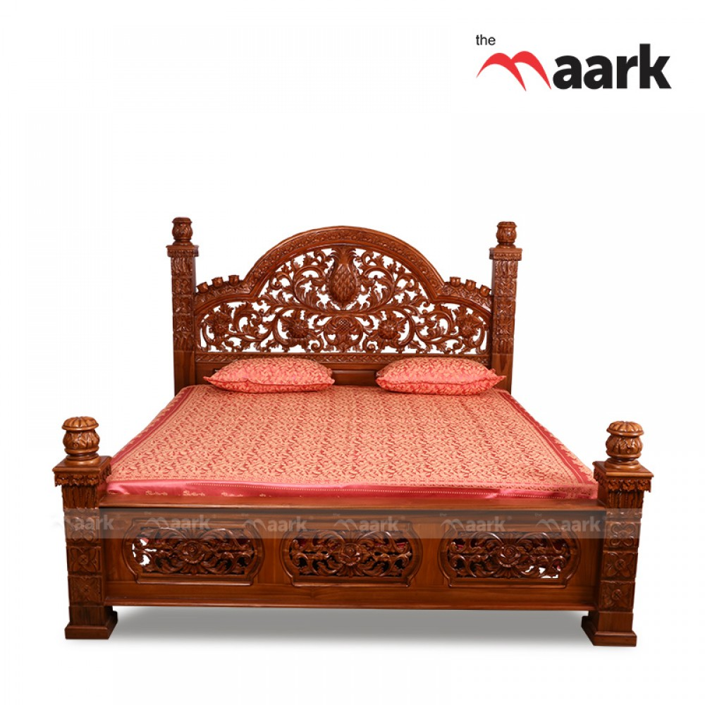 882e32a340 King Size Wooden Teak Cot | Buy Online Cot | Teak Bed Prices