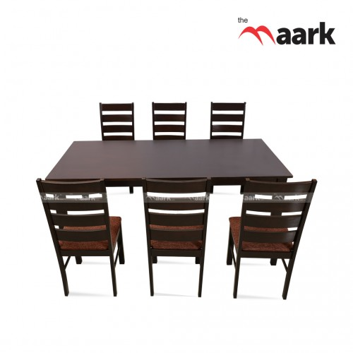 The Maark Wooden Six Sparrow Seater Dining Table
