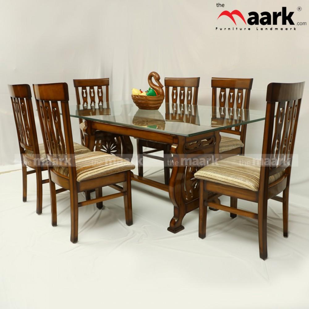2b3de6cc69a3 Glass Wooden Dining DL CHAKRA