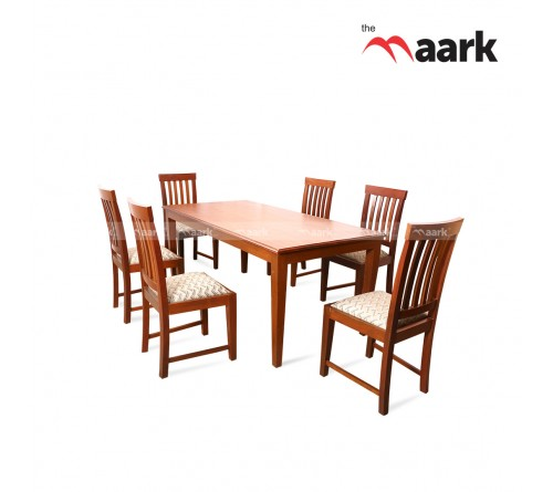 The Maark Lines Wooden Dining Table