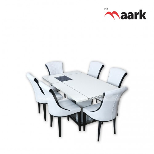The Maark Marble 6 Seater Dining Table