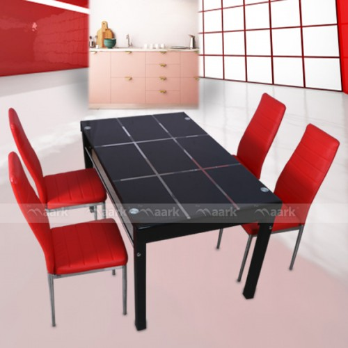 The Maark Four Seater Glass Dining Tables