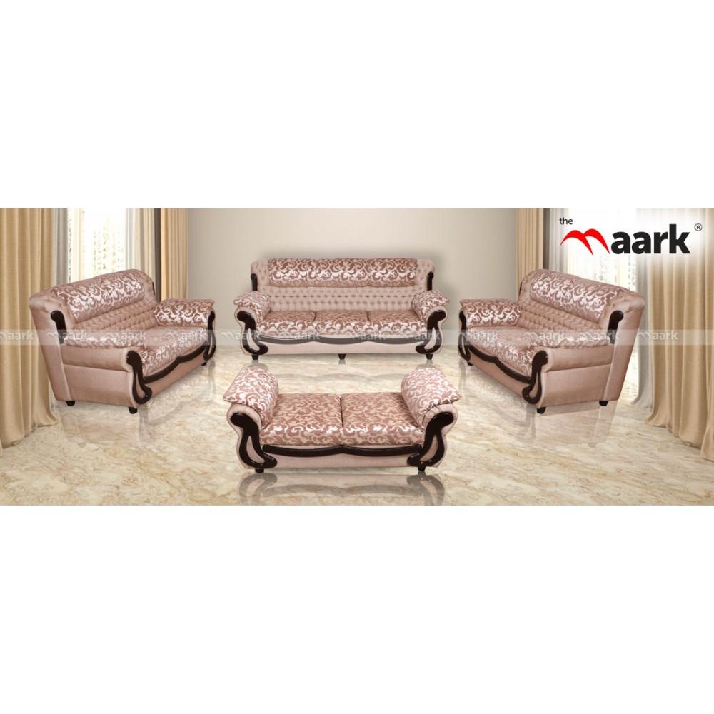 The Maark Fabric Sai Quilt White Sofa