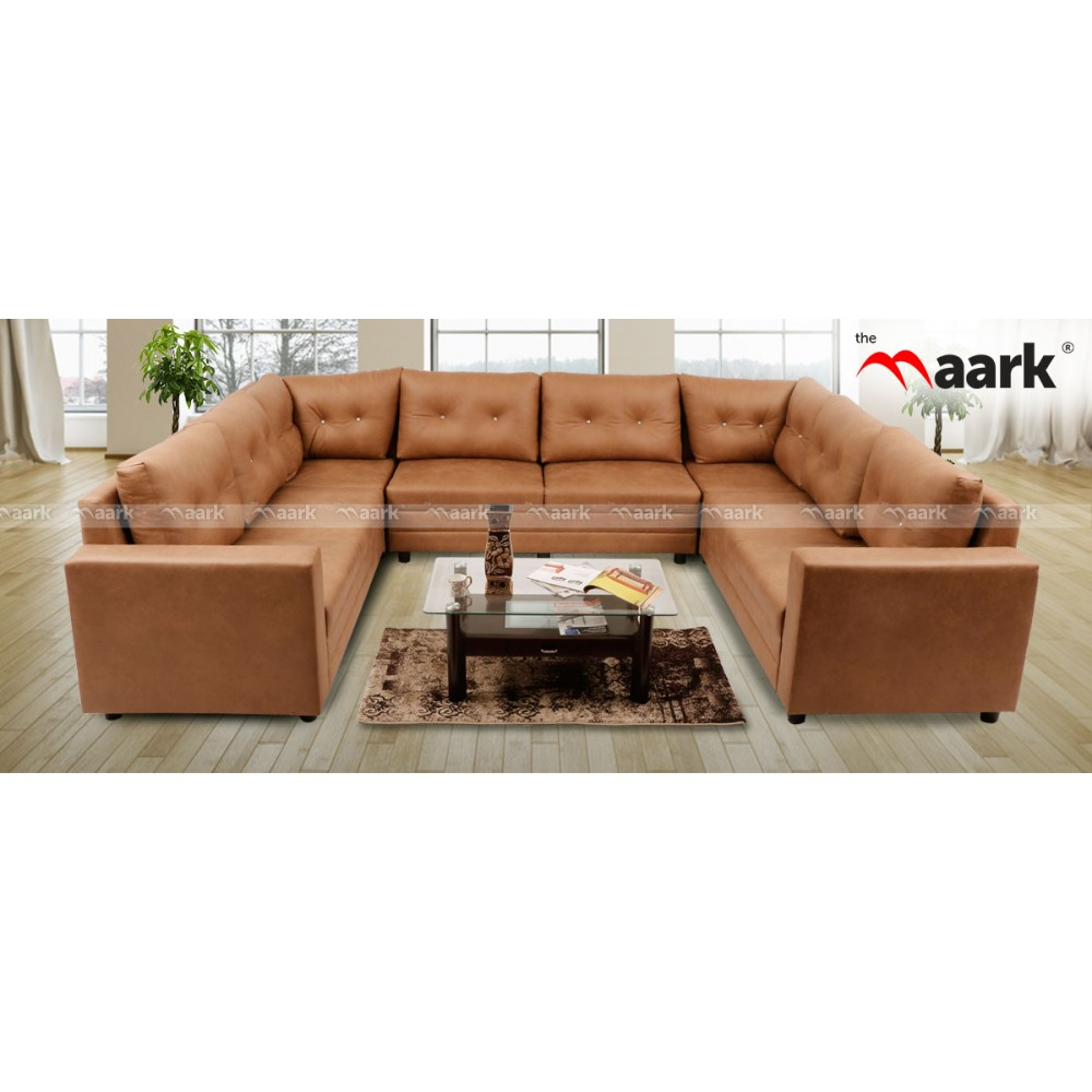 Oxford Premium Brown Sofa Fabric Sofa Furniture Online Store In