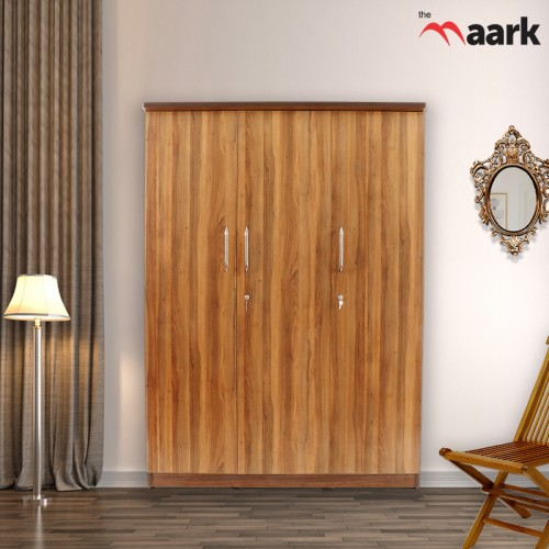 Classic Modern Three Door Wooden Wardrobe