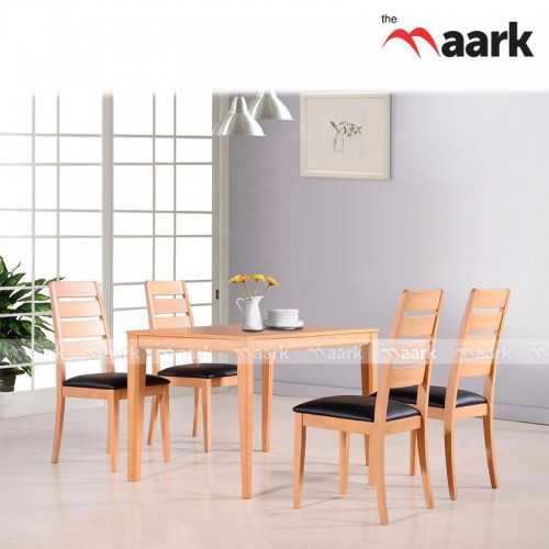The Maark Rich Wood With Black Cussion Dining