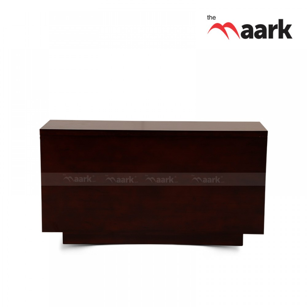 The Maark Wooden Storage Console Full Rubberwood.