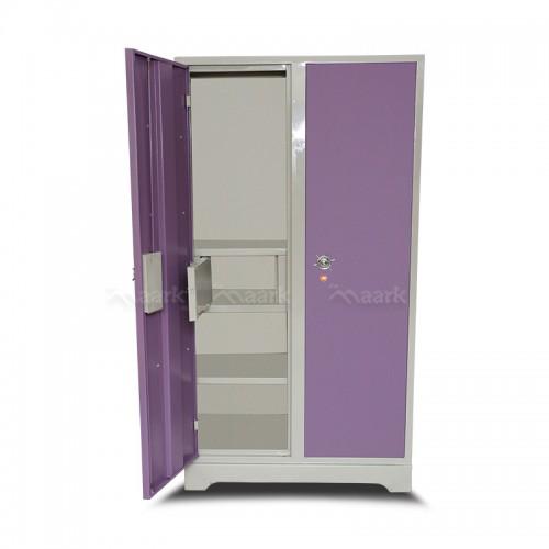 Violet Two Door Wardrobe Steel With Mirror
