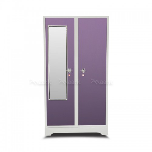 Violet Two Door Wardrobe Steel With Mirror