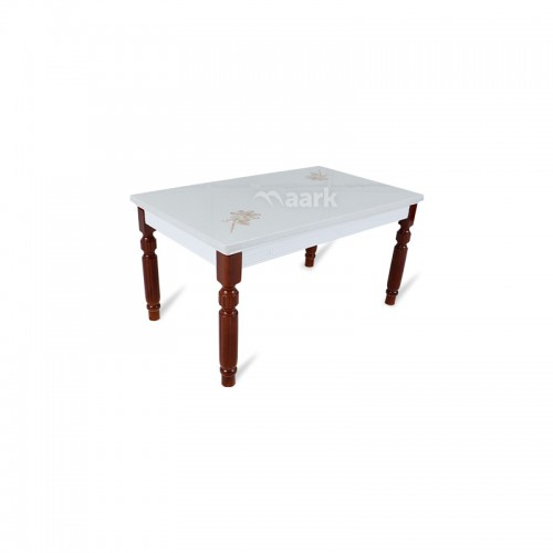 Rich Six Seater Marble Dining Table