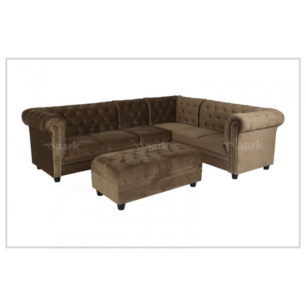 Clester Fabric Corner Sofa